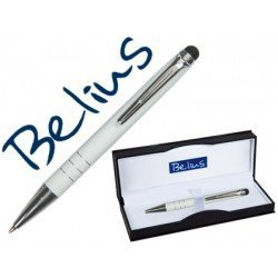 Boligrafo marca Belius Minsk con puntero pantallas tactiles blanco estuche