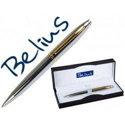 Boligrafo marca Belius macerata plata oro estuche