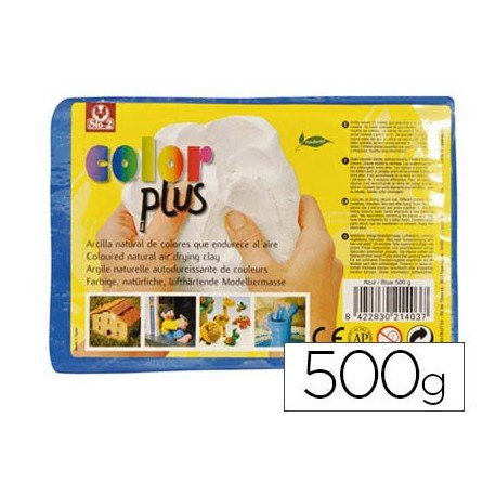 Arcilla Sio-2 Colorplus color azul 500 g