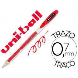 Boligrafo marca Uni-Ball roller UM-120 signo rojo
