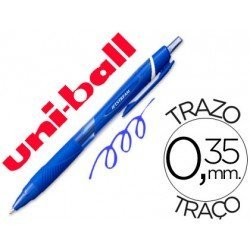 Boligrafo marca Uni-Ball roller SXN157C Jetstream color azul 0.35 mm