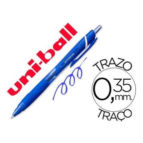 Boligrafo marca Uni-Ball roller SXN157C Jetstream color azul 0.35 mm