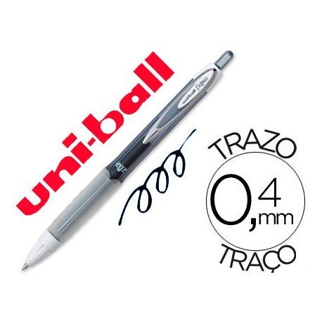 Boligrafo marca Uni-Ball roller UMN-207 color negro 0,4 mm