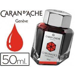 Tinta estilografica marca Caran d'Ache Chromatics rojo infrarrojo