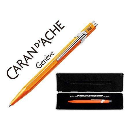 Boligrafo marca Caran d'ache 849 Pop line naranja fluor estuche