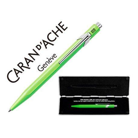Boligrafo marca Caran d'ache 849 Pop line verde fluor estuche