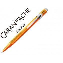 Boligrafo marca Caran d'ache 849 fluor naranja