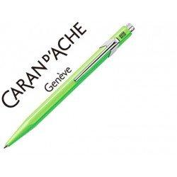 Boligrafo marca Caran d'ache 849 fluor verde limon
