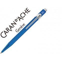 Boligrafo marca Caran d'ache 849 metalizado azul