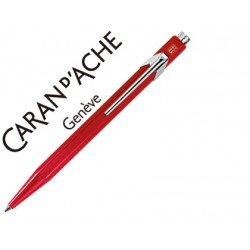Boligrafo marca Caran d'ache 849 metalizado rojo