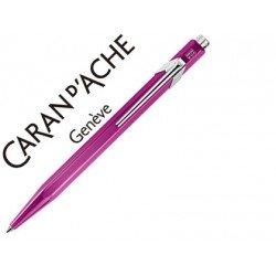 Boligrafo marca Caran d'ache 849 metalizado violeta