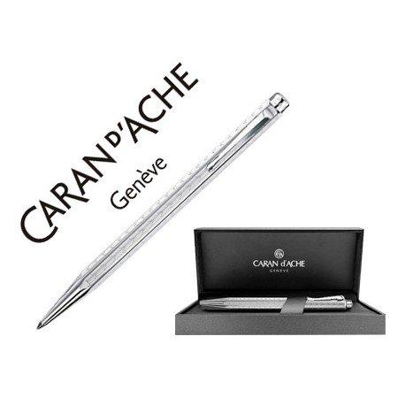 Boligrafo marca Caran d'ache Ecridor Chevron placado paladio estuche