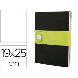 Libreta Moleskine tapa blanda liso color negro pack (3) 19x25 cm