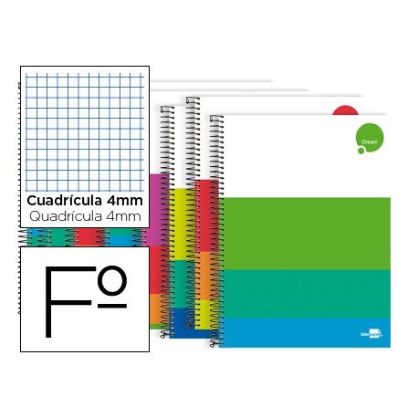 Bloc Liderpapel Folio serie Dream cuadricula 4mm