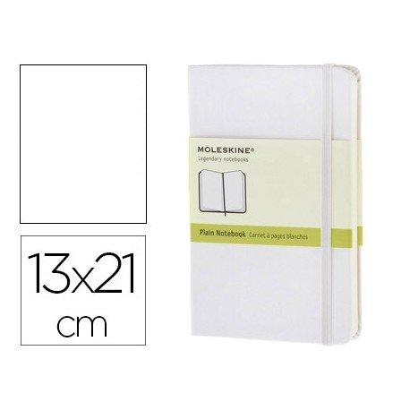 Libreta Moleskine tapa dura liso color blanco 13x21 cm