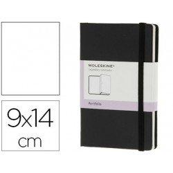 Libreta Moleskine organizadora color negro 9x14 cm