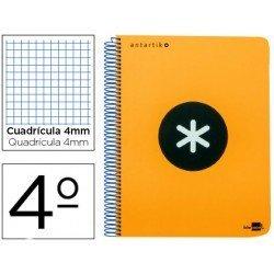 Bloc Liderpapel Cuarto Serie Antartik cuadricula color naranja