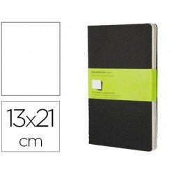 Libreta Moleskine tapa blanda liso color negro pack (3) 13x21 cm