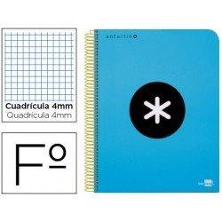 Bloc Antartik Folio Cuadrícula tapa Plástico 100g/m2 Azul con margen