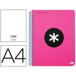 Bloc Antartik A4 Liso tapa Plástico 100g/m2 Rosa 5 bandas color