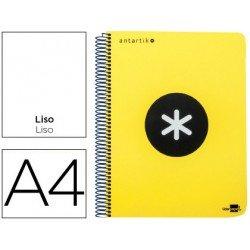 Bloc Antartik A4 Liso tapa Plástico 100g/m2 Amarillo 5 bandas color