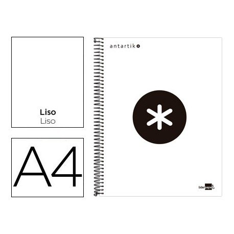 Bloc Liderpapel Din A4 serie Antartik Liso color Blanco