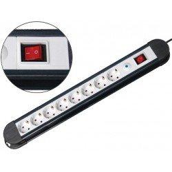 Regleta 8 tomas Mediarange con interruptor 1,4 m