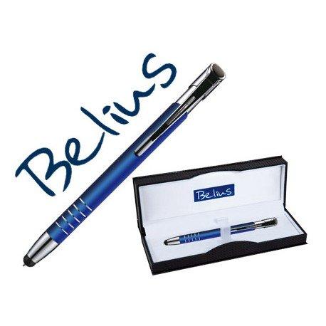Boligrafo Belius azul con puntero tactil Trazo 1 mm