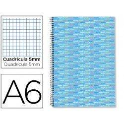 Bloc marca Liderpapel A6 serie Multilider cuadricula celeste