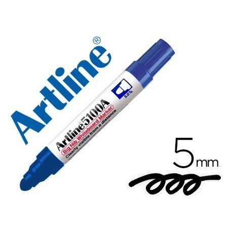 Rotulador para pizarra Artline color azul punta redonda 5 mm