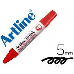 Rotulador para pizarra Artline color rojo punta redonda 5 mm