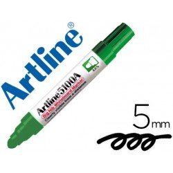Rotulador para pizarra Artline color verde punta redonda 5 mm