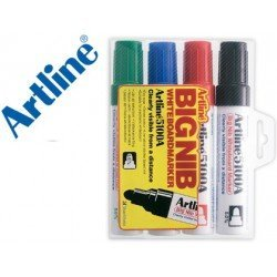 Rotulador para pizarra Artline colores surtidos punta redonda 5 mm