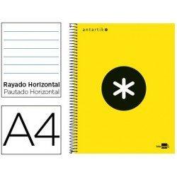 Bloc marca Liderpapel Din A4 Antartik rayado horizontal amarillo tapa carton