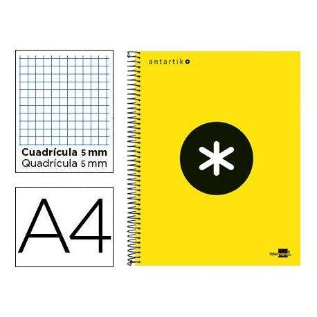 Bloc Antartik A4 Cuadrícula tapa Forrada 100g/m2 Amarillo 5 bandas color