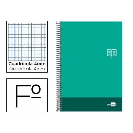 Bloc Liderpapel serie Discover folio cartoncillo cuadricula 4 mm color verde pino