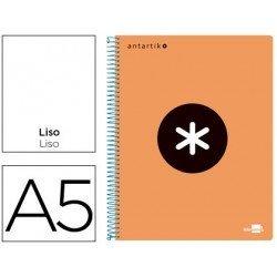 Bloc Antartik A5 Liso tapa Plástico 100g/m2 Naranja 5 bandas color