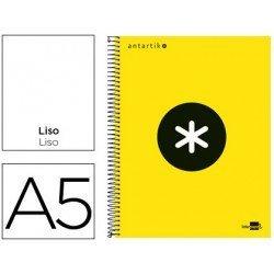Bloc Antartik A5 Liso tapa Forrada 100g/m2 Amarillo Flúor 5 bandas color