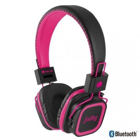 Auricular inalambrico y microfono NGS rosa