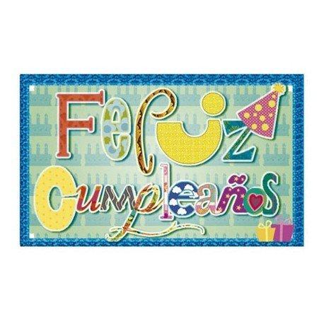Etiqueta marca Arguval Feliz Cumpleaños modelo 70 rollo de 250 unidades