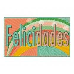 Etiqueta marca Arguval Felicidades modelo 71 rollo de 250 unidades