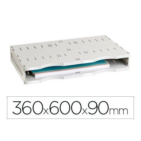 Archivador modular Archivo 2000 estandar 1 casilla Din A3 color gris