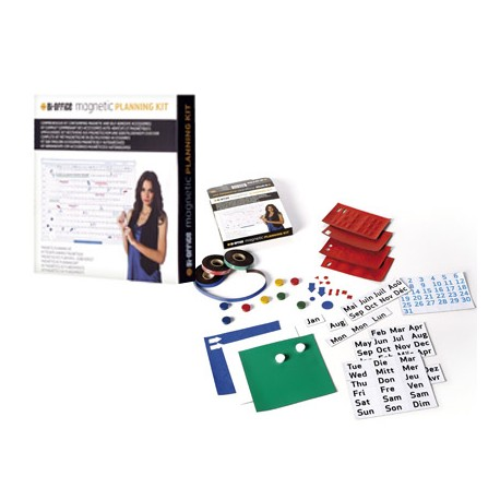 Kit de accesorios planning magnetico marca Bi-Office