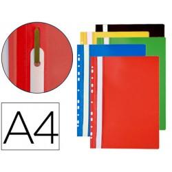 Bolsa de 10 Carpetas dossier Multitaladros marca Q-connect Din A4 de colores surtidos