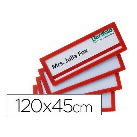 Identificador para puertas-pared Color Rojo 120x45 MM