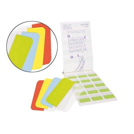 Banderitas separadoras marca 3l Office rigidas medianas 4 colores