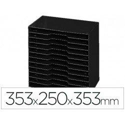 Archivador modular Cep poliestireno 12 casillas color negro 353x250x353 mm