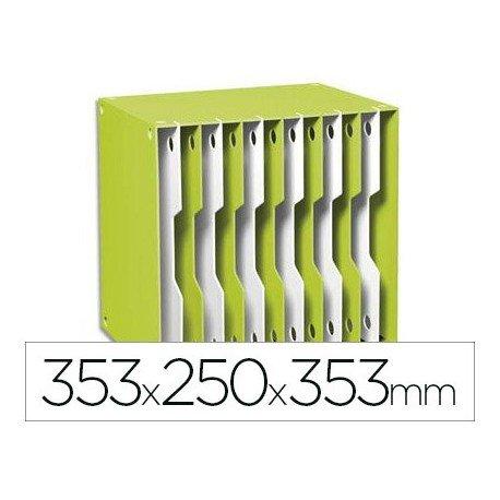 Archivador modular Cep poliestireno 12 casillas color verde/blanco 353x250x353 mm