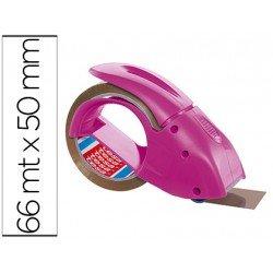 Portarrollo marca tesa embalaje para rollos de 66 mt x 50 mm rosa