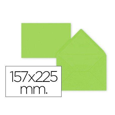 Sobre color Liderpapel engomado lima gramaje 80g/m2